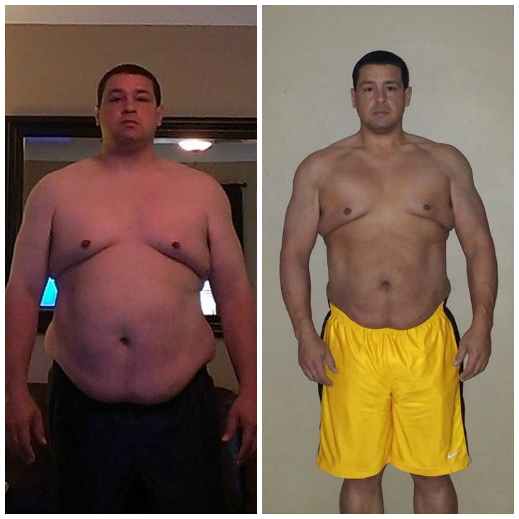 Before and After Weight Lost